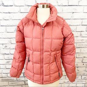 Columbia vintage pink puffer winter coat